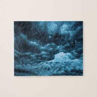 Close up of blue ice, Iceland Jigsaw Puzzle