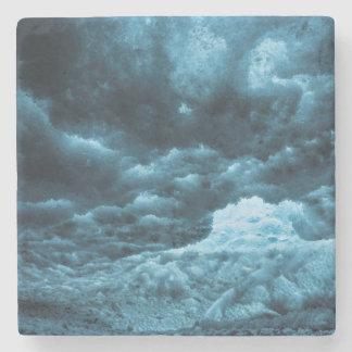 Close up of blue ice, Iceland Stone Beverage Coaster