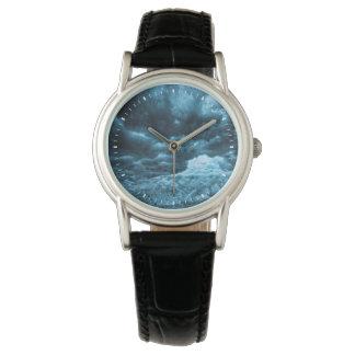 Close up of blue ice, Iceland Wrist Watch