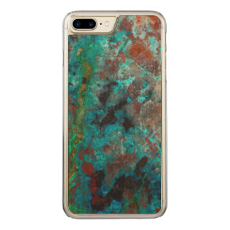 Close up of blue Shattuckite Carved iPhone 8 Plus/7 Plus Case