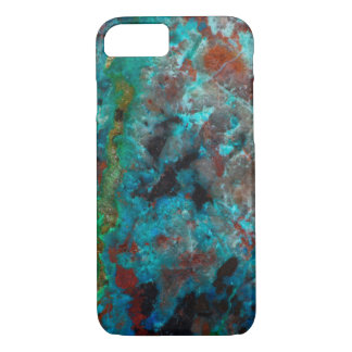 Close up of blue Shattuckite iPhone 8/7 Case