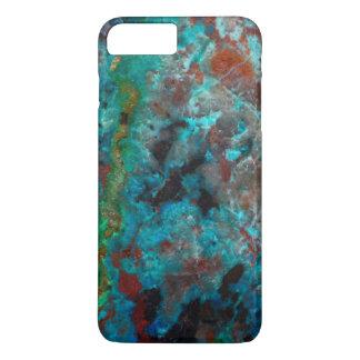 Close up of blue Shattuckite iPhone 8 Plus/7 Plus Case