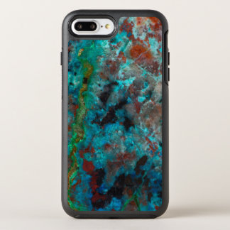 Close up of blue Shattuckite OtterBox Symmetry iPhone 8 Plus/7 Plus Case