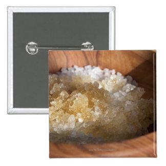 Close up of bowl of sugar 15 cm square badge