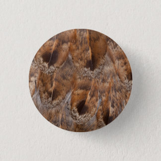 Close Up Of Brown Feathers 3 Cm Round Badge