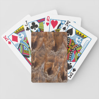 Close Up Of Brown Feathers Bicycle Playing Cards