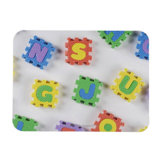 Close-up of building blocks rectangle magnets