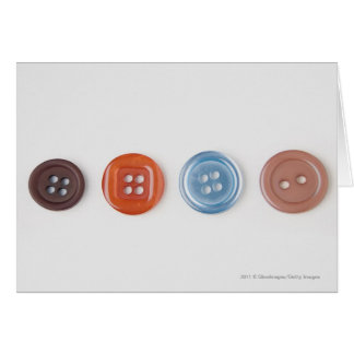 Close-up of buttons card