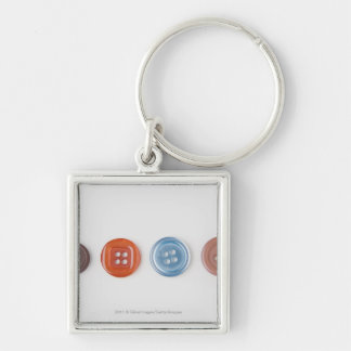 Close-up of buttons key chains