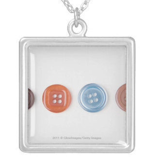 Close-up of buttons personalized necklace