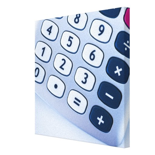 close-up of calculator buttons stretched canvas prints