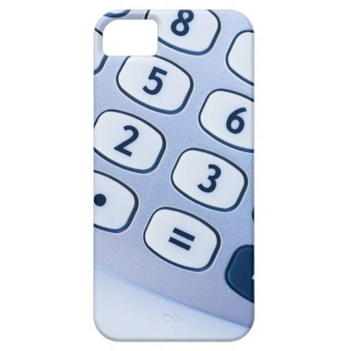 close-up of calculator buttons iPhone 5 case