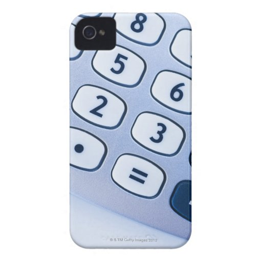 close-up of calculator buttons blackberry bold case