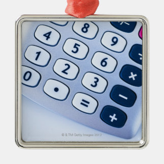 close-up of calculator buttons ornaments