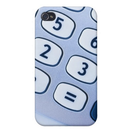 close-up of calculator buttons iPhone 4/4S cases