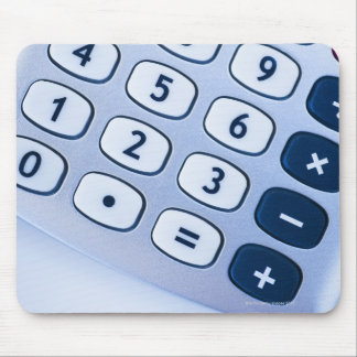 close-up of calculator buttons mousepad
