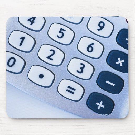 close-up of calculator buttons mousepad