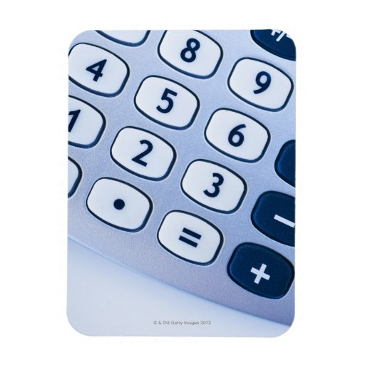 close-up of calculator buttons magnet