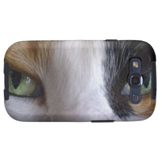 Close-up of cat's eyes galaxy SIII covers
