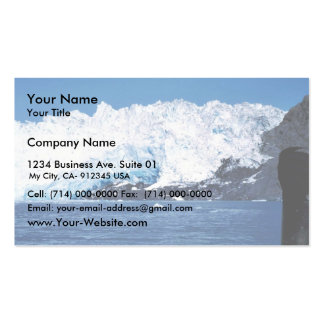 Close up of Chenega glacier Business Card Templates