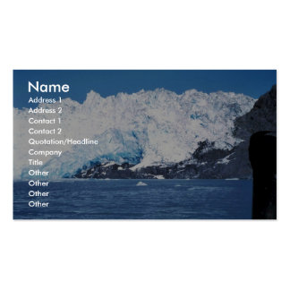 Close up of Chenega glacier Business Card Template
