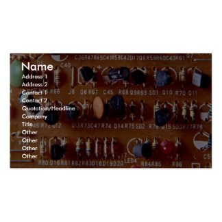 Close up of circuit board business card