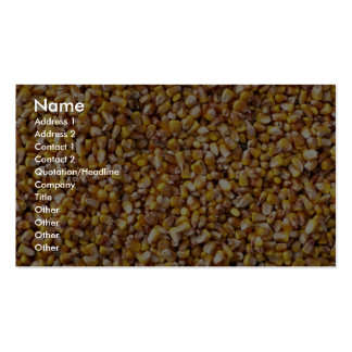 Close-up of corn business cards