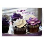 Close-up of Cupcakes  Birthday Card
