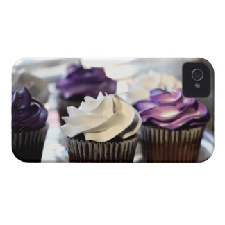 Close-up of cupcakes with selective focus on iPhone 4 case