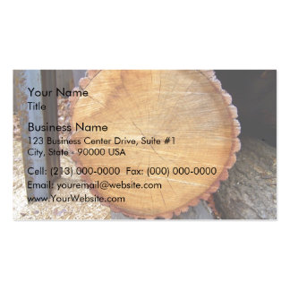 Close-up of cut tree pack of standard business cards