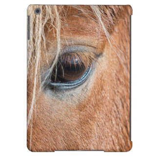 Close-up of eye and head of Icelandic horse iPad Air Cover