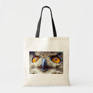 Close-up of eyes of eagle owl bag