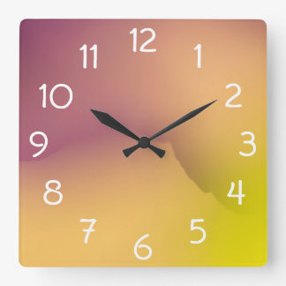 Close-up of flower petals square wall clock