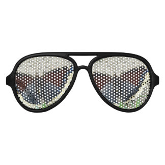 Close up of Gorgeous Mourning Cloak Butterfly Aviator Sunglasses