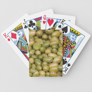 Close Up Of Green Olives Bicycle Playing Cards