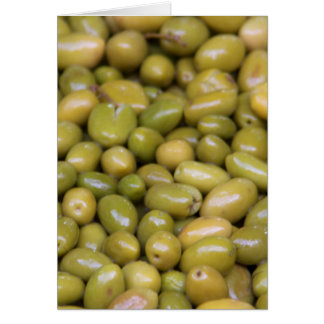 Close Up Of Green Olives Card