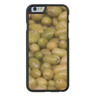 Close Up Of Green Olives Carved Maple iPhone 6 Case