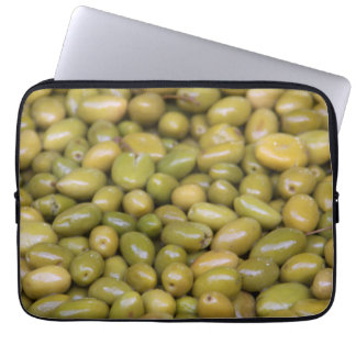 Close Up Of Green Olives Laptop Sleeve