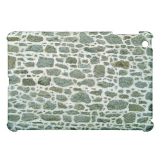Close-up Of Green Stone Wall With Cement iPad Mini Covers