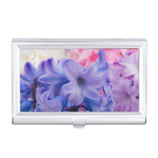 Close-up of Hyacinth plant Business Card Case