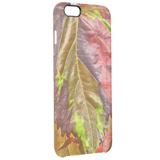 Close-up Of Leaf In Shimmery Vibrant Colors Clear iPhone 6 Plus Case