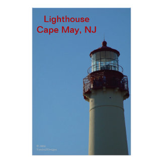 Close-up of Lighthouse, Cape May, NJ Poster