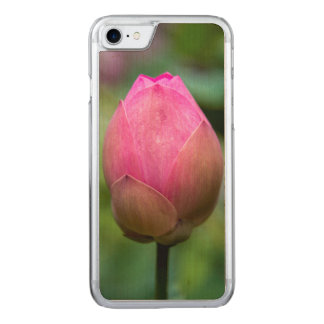 Close-up of lotus flower bud, Bali Carved iPhone 7 Case