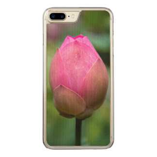 Close-up of lotus flower bud, Bali Carved iPhone 7 Plus Case