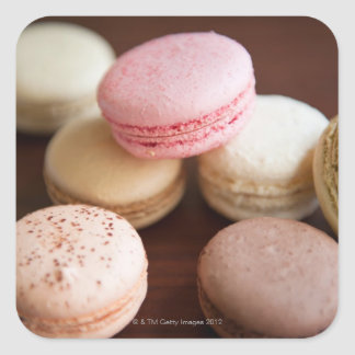 Close up of Macaroons Square Sticker