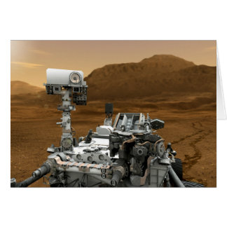 Close-up of Mars Curiosity Rover Card