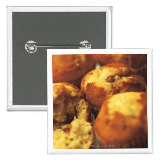 close-up of muffins (blurred) 15 cm square badge