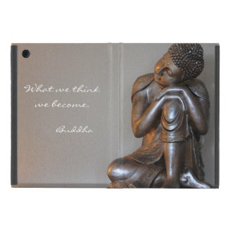 Close up of peaceful silver Buddha Covers For iPad Mini