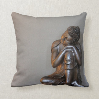Close up of peaceful silver Buddha Cushion