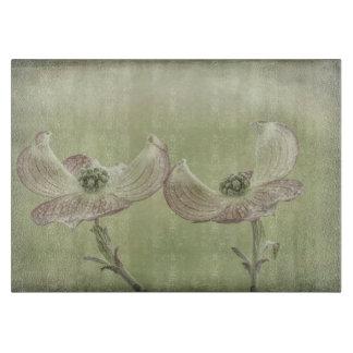 Close-up of Pink Dogwood Blossoms | Seabeck, WA Cutting Board